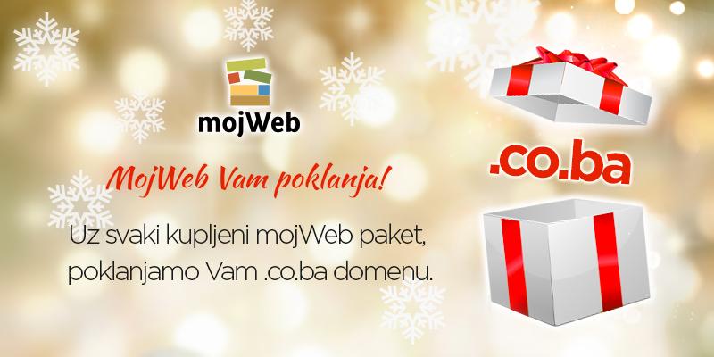 Uz svaki kupljeni mojWeb paket poklanjamo .co.ba domenu